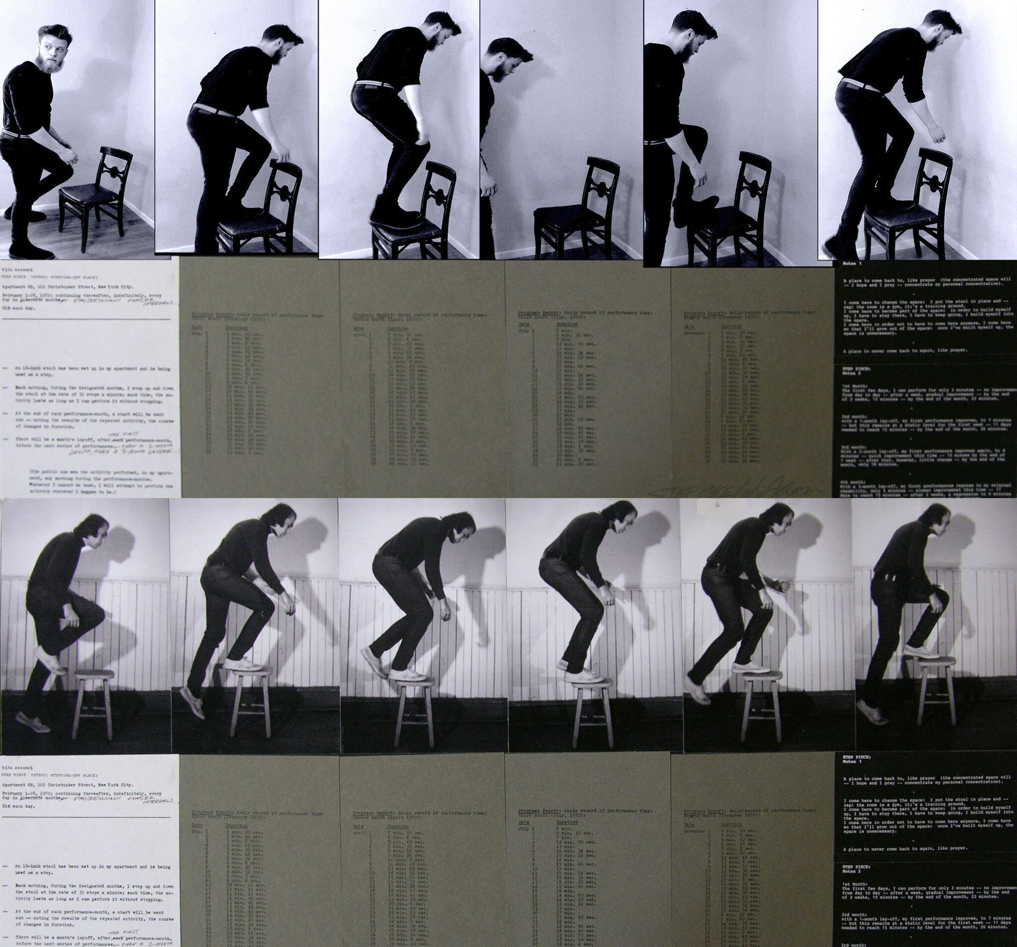 Process Pictures of someone standing on a chair