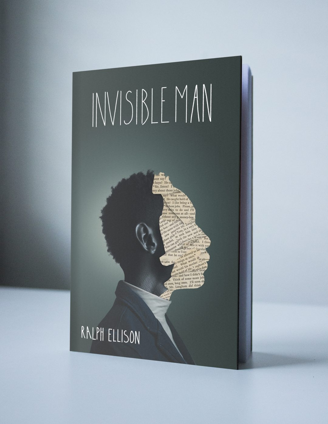 Invisible Man Book Cover Standing