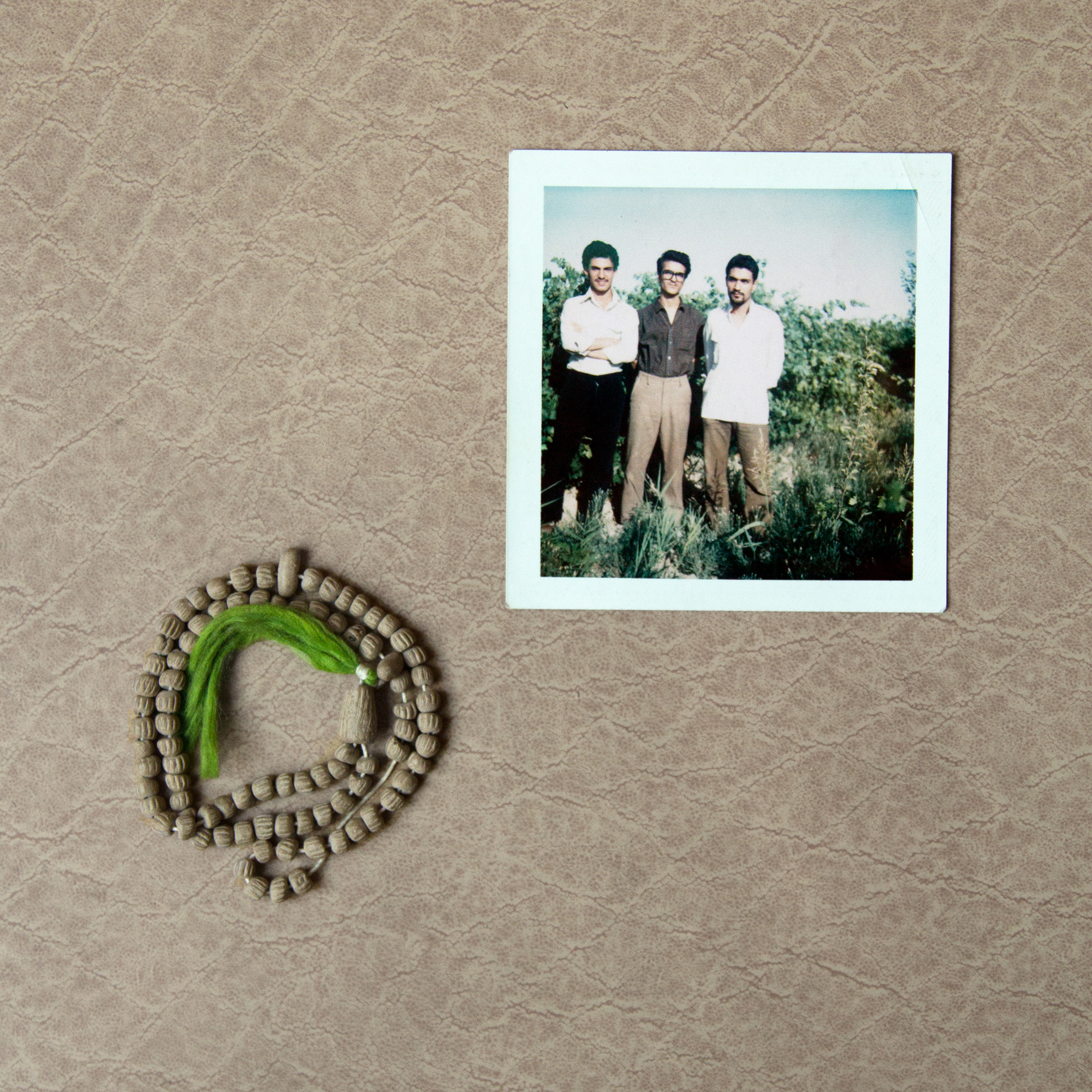 Photograph of picture and bracelet