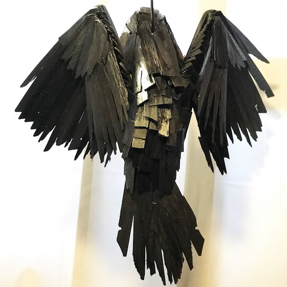 Back view of raven